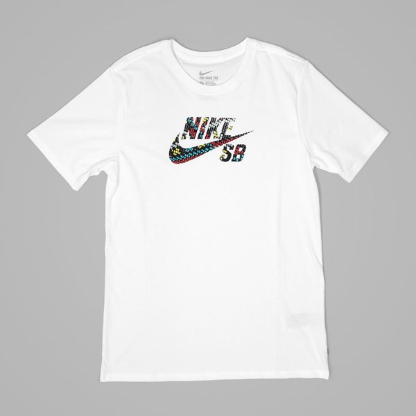 NIKE SB ICON LOGO 'SEAT COVER PACK' TEE WHITE