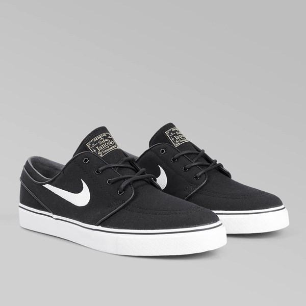 NIKE SB JANOSKI CANVAS BLACK WHITE