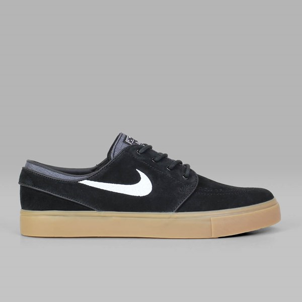 NIKE SB JANOSKI SUEDE BLACK WHITE GUM LT BROWN