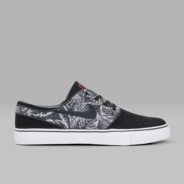 NIKE SB JANOSKI SUEDE 'JUNGLE' BLACK MAX ORANGE