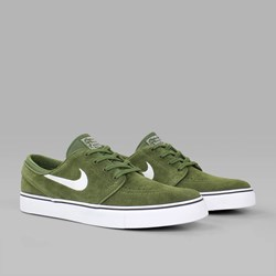 NIKE SB JANOSKI SUEDE LEGION GREEN WHITE BLACK