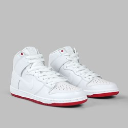 NIKE SB KEVIN BRADLEY QS DUNK HIGH WHITE
