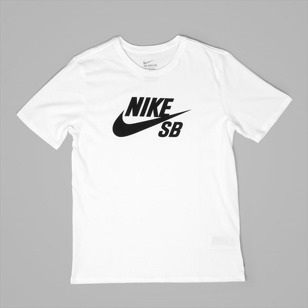 NIKE SB LOGO SS T-SHIRT WHITE LIGHT AQUA