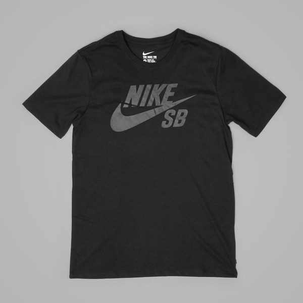 NIKE SB LOGO TEE BLACK COOL GREY