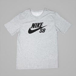 NIKE SB LOGO TEE DARK GREY HEATHER BLACK