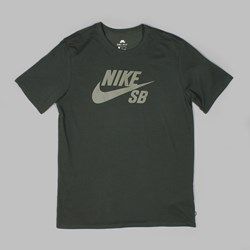 NIKE SB LOGO TEE SEQUOIA MEDIUM OLIVE