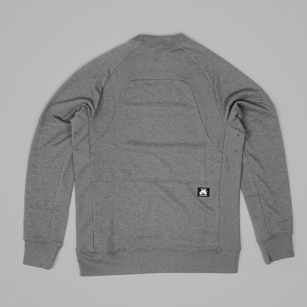 NIKE SB LT EVERETT DRI-FIT CREW	 DK GREY HEATHER