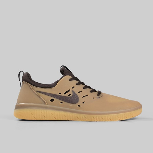 NIKE SB NYJAH FREE GUM DARK BROWN BAROQUE BROWN