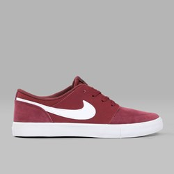 NIKE SB PORTMORE II DARK TEAM RED WHITE BLACK