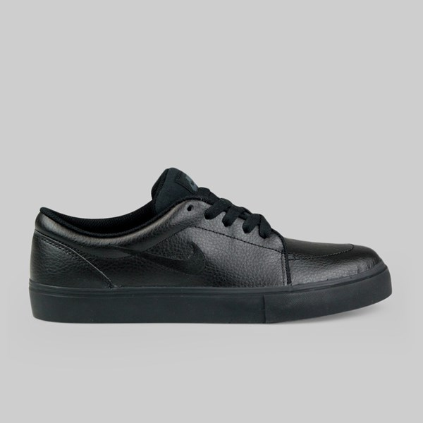 Nike Sb Satire Leather Trainers Black Black Anthracite Nike