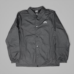 NIKE SB SHIELD COACHES JACKET BLACK COOL GREY
