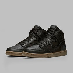 NIKE SB X ANTI HERO BA DUNK HIGH PRO QS BLACK BLACK GUM