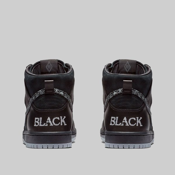 reputable site 42463 0e668 NIKE SB X BAR BLACK DUNK HI PRO QS BLACK WOLF GREY