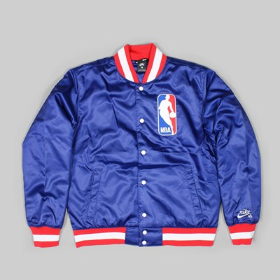 NIKE SB X NBA BOMBER JACKET DEEP ROYAL BLUE WHITE