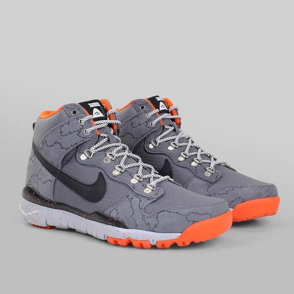 sports shoes dc070 3a625 NIKE SB X POLER DUNK HI R R DARK GREY BLACK