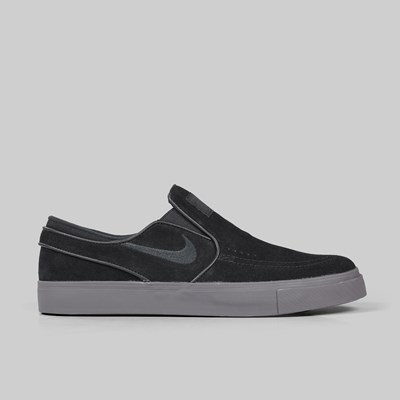 NIKE SB ZOOM JANOSKI SLIP ON BLACK THUNDER GREY