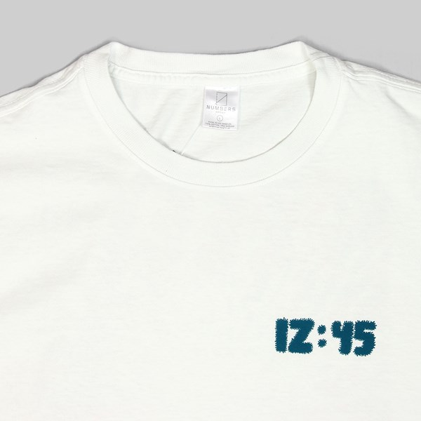 NUMBERS 12:45 SWIRL LS T-SHIRT OFF WHITE
