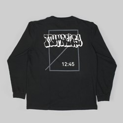 NUMBERS BOMBED LOGOTYPE LS T-SHIRT BLACK