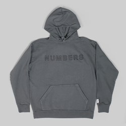 NUMBERS OUTLINE PO HOOD CHARCOAL