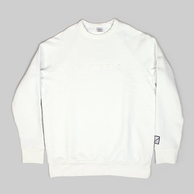 NUMBERS WORDMARK EMB CREW OFF WHITE