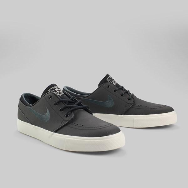 promo code 1098f cb46e Nike SB Zoom Stefan Janoski Leather Trainers Black Anthracite Light Bone  Dark Brown