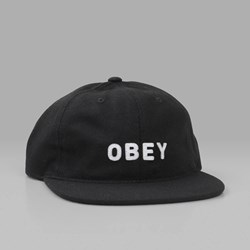 OBEY AFTON 6 PANEL CAP BLACK