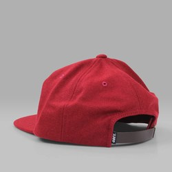 OBEY AFTON 6 PANEL CAP BURGUNDY