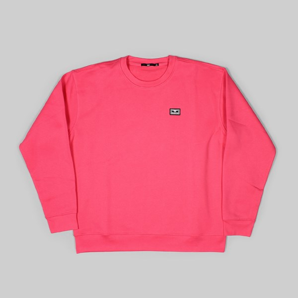 OBEY ALL EYES CREW NECK SWEAT CORAL PINK  d8d0e10c8dc