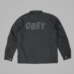 OBEY BAKER GRAPHIC JACKET BLACK