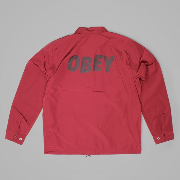 OBEY BAKER GRAPHIC JACKET BURGUNDY