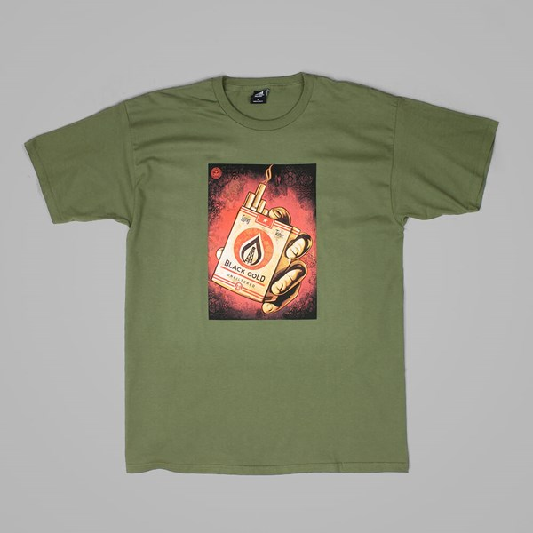 OBEY BLACK GOLD T SHIRT MILITARY OLIVE