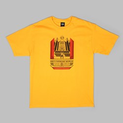 OBEY CHURCH OF CONSUMPTION TEE GOLD