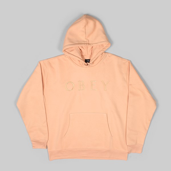 OBEY CONSTRUCT PO HOODY DUSTY CORAL