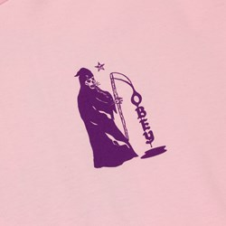 OBEY CREEPIN DEATH T SHIRT PINK