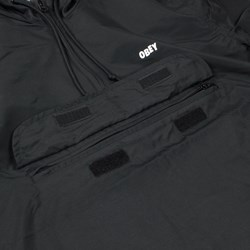 OBEY CROSSTOWN ANORAK JACKET BLACK