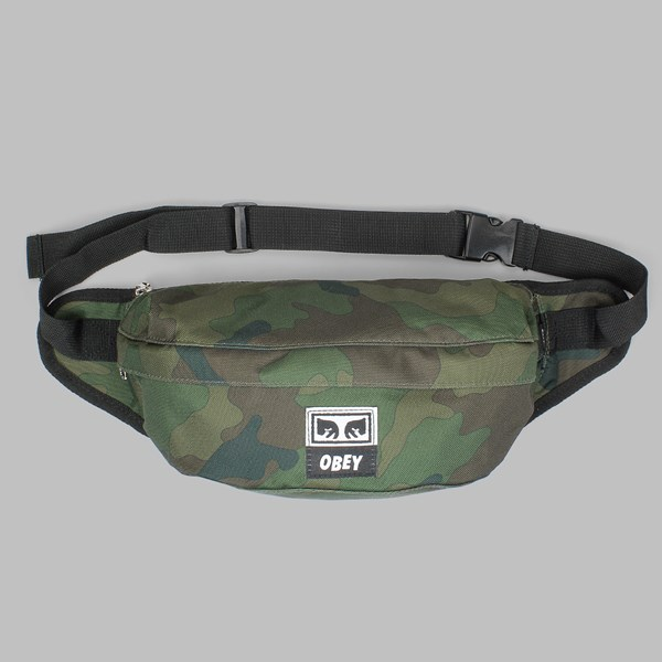 OBEY DROP OUT SLING BAG FIELD CAMO