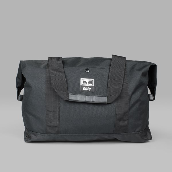 OBEY DROP OUT WEEKENDED DUFFLE BAG BLACK