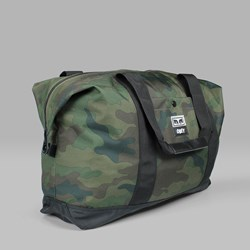 OBEY DROP OUT WEEKENDED DUFFLE BAG FIELD CAMO