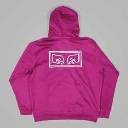OBEY EYES PREMIUM HOOD RASPBERRY