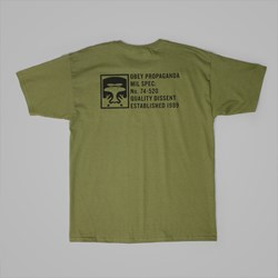 OBEY HALF FACE MIL SPEC T SHIRT MILITARY OLIVE