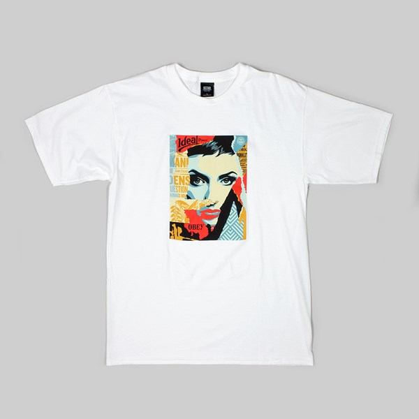 OBEY IDEAL POWER SS T-SHIRT WHITE