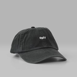 OBEY JUMBLE BAR HAT II 6 PANEL HAT BLACK