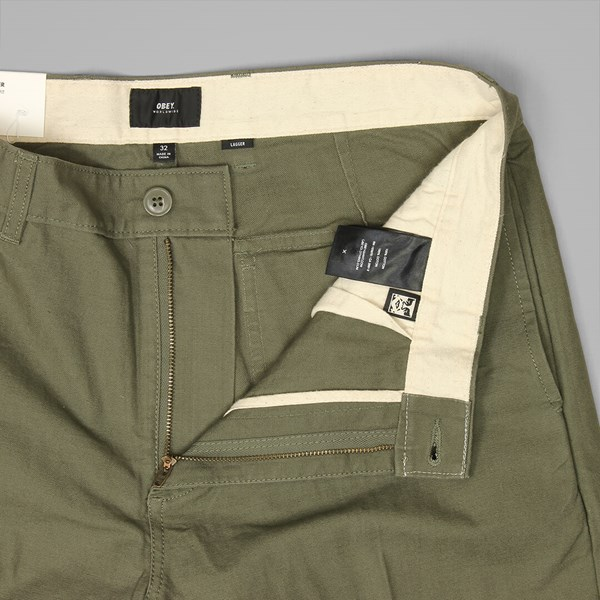 OBEY LAGGER PATCH POCKET PANT ARMY