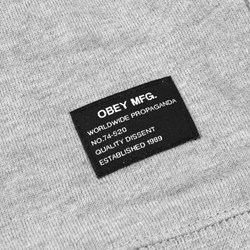 OBEY MIL. SPEC. CREWNECK HEATHER-GREY