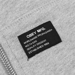 OBEY MIL. SPEC. ZIP HOOD HEATHER-GREY