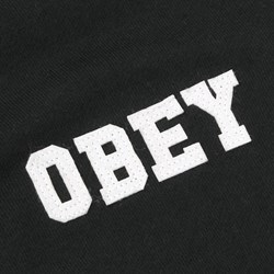 OBEY NASSAU HOODED SWEATSHIRT BLACK