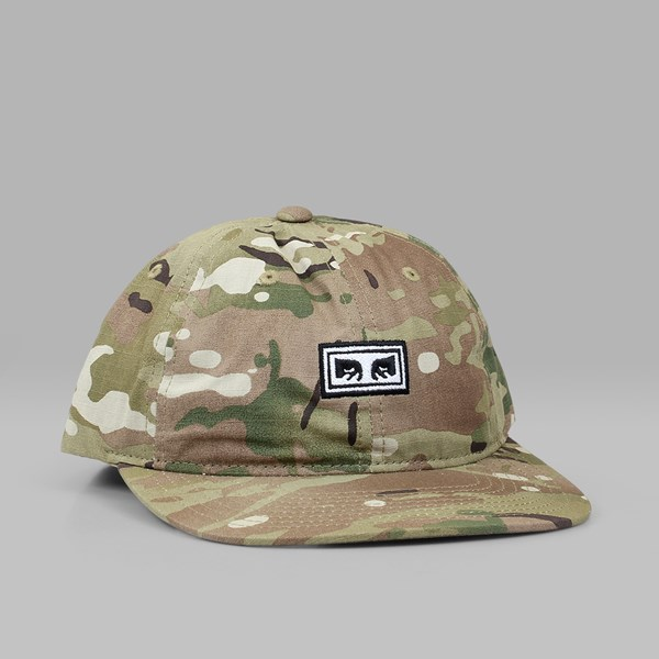 OBEY OVERTHROW 6 PANEL CAP SNAPBACK DESERT CAMO