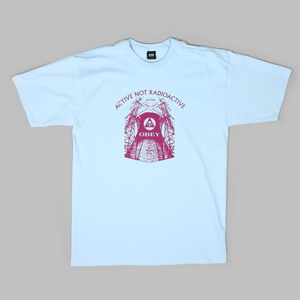 OBEY RADIOACTIVE TEE POWDER BLUE