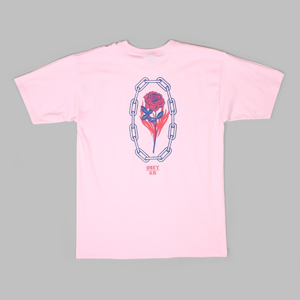 OBEY ROSETTE SHORT SLEEVE TEE PINK