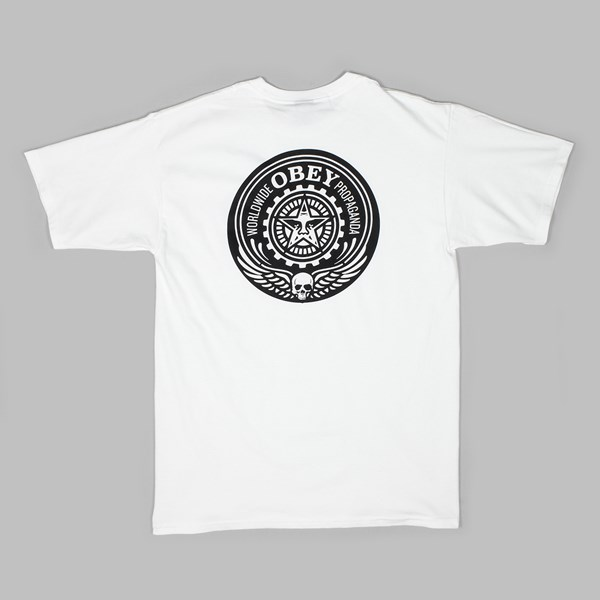 OBEY SKULL AND WINGS TEE WHITE